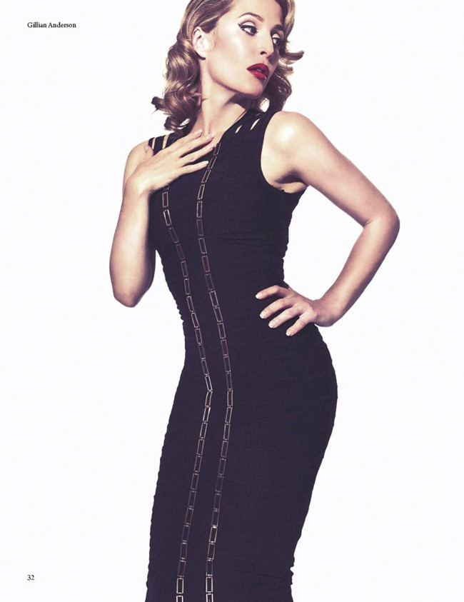 FAULT MAGAZINE Gillian Anderson by Squiz Hamilton. Claudia Behnke, Fall 2011, www.imageamplified.com, Image Amplified (5)