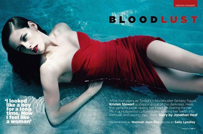 GQ UK Kristen Stewart in Blood Lust by Norman Jean Roy. November 2011, Sally Lyndley, www.imageamplified.com, Image Amplified (4)