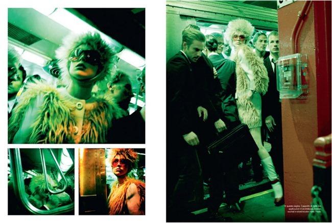VOGUE ITALIA- Raquel Zimmermann in The A Train by Steven Meisel. Carlyne Cerf de Dudzeele, November 2011, www.imageamplified.com, Image Amplified4
