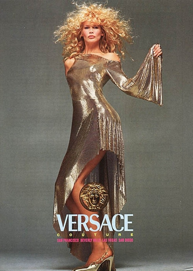 WE ♥ VERSACE- Claudia Schiffer & Cindy Crawford for Versace Fall 1994 by Richard Avedon. www.imageampilfied.com, Image Amplified6