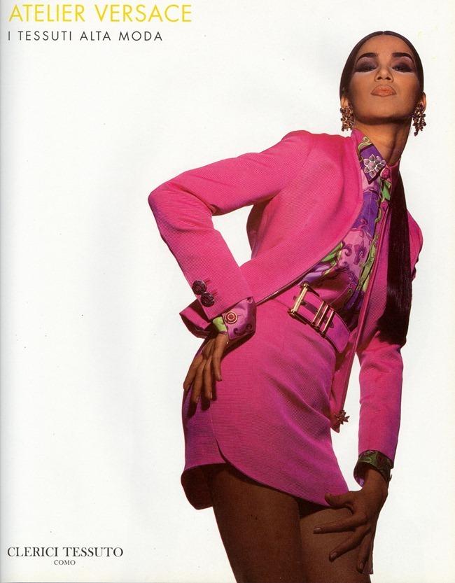 WE ♥ VERSACE- Gurmit, Karen Mulder & Claudia Mason for Atelier Versace S S 1991 by Tyen. www.imageampilfied.com, Image Amplified9