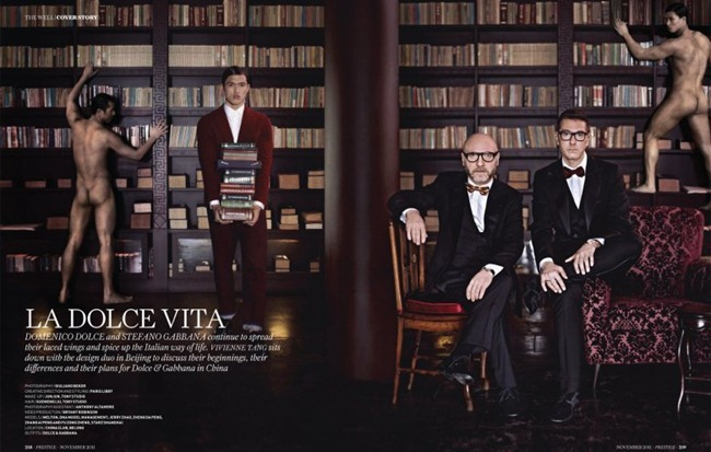 PRESTIGE HONG KONG- Domenico Dolce & Stefano Gabbana by Giuliano Bekor. www.imageamplified.com, Image Amplified2