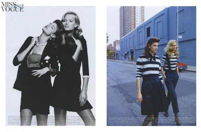 VOGUE PARIS Toni Garrn & Kendra Spears in Made in USA by Teho Wenner. Veronique Dirty, December 2011, www.imageampilfied.com, Image Amplified (1)
