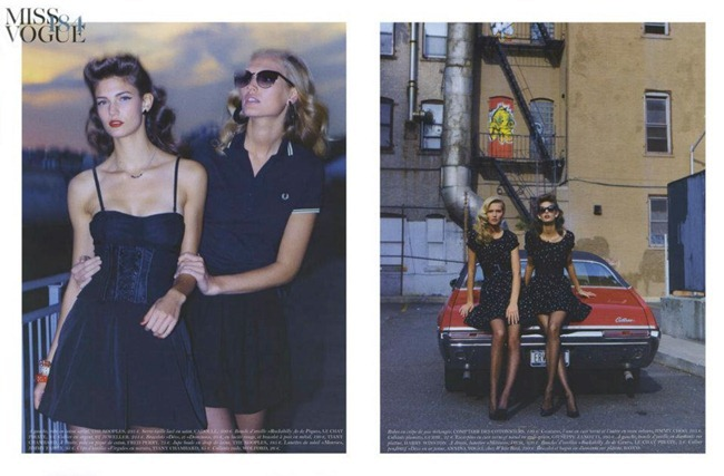 VOGUE PARIS Toni Garrn & Kendra Spears in Made in USA by Teho Wenner. Veronique Dirty, December 2011, www.imageampilfied.com, Image Amplified (2)