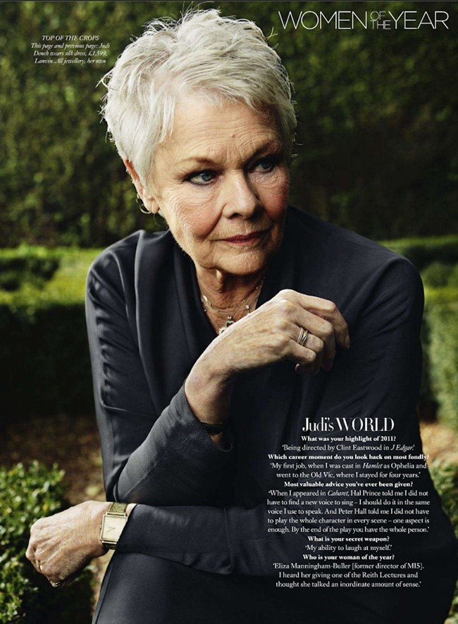 HARPER'S BAZAAR UK Judi Dench by JR Mankoff. Vanessa Coyle, December 2011, www.imageamplified.com, Image Amplified (2)