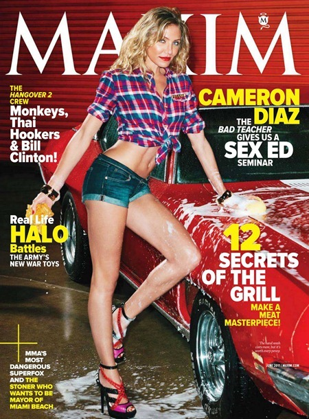 MAXIM MAGAZINE Cameron Diaz in Hot For Teacher by Gavin Bond. June 2011, www.imageamlpified.com, Image Amplified (1)