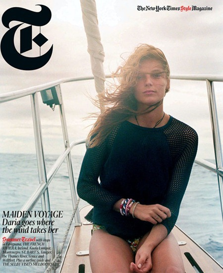 T MAGAZINE TRAVEL Daria Werbowy in Girl Overboard by Cass Bird. www.imageamplified.com, Image Amplified (4)