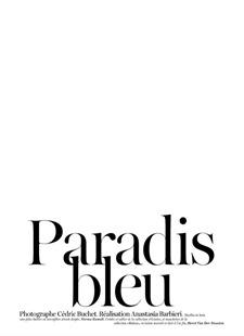 VOGUE PARIS Karmen Pedaru in Paradis bleu by Cedric Buchet. Anastasia Barbieri, June July 2011, www.imageamplified.com, Image Amplified (8)