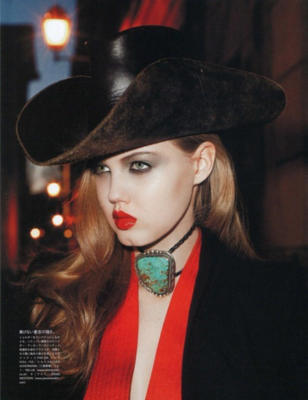 VOGUE NIPPON Lindsey Wixon in Spaghetti Western by Terry Richardson. June 2011, George Cortina, www.imageamplified.com, Image Amplified (3)