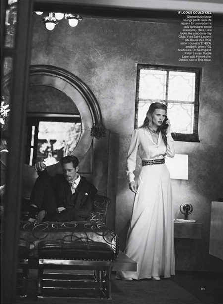 VOGUE MAGAZINE Lara Stone, Frida Gustavsson & Alexander Skarsgård in Spell Bound by Peter Lindbergh. Grace Coddington, July 2011, www.imageamplified.com, Image Amplified (6)