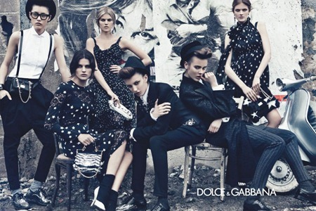 CAMPAIGN Liu Wen, Isabeli Fontana, Maryna Linchuk, Constance Jablonski, Jac Jagaciak & Kate King for Dolce & Gabbana Fall 2011 by Steven Klein. www.imageamplified.com, Image Amplified (2)