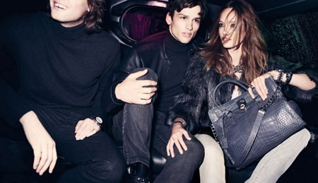 Picture About Male Model Karmen Pedaru & Taylor Fuchs Captured by Mario Testino for Michael Kors Fall 2011