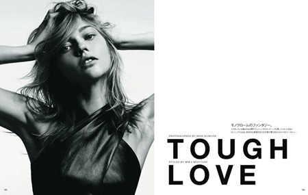 VOGUE JAPAN Sasha Pivovarova in Tough Love by Hedi Slimane. August 2011, www.imageamplified.com, Image Amplified (1)