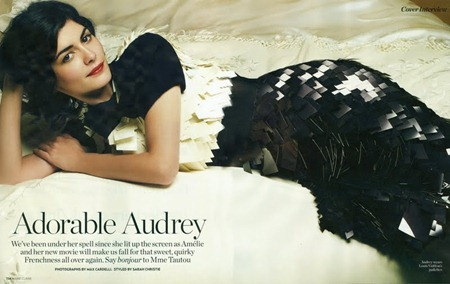 MARIE CLAIRE UK Audrey Tautou in Adorable Audrey by Max Cardelli. Sarah Christie, August 2011, www.imageamplified.com, Image Amplified (2)