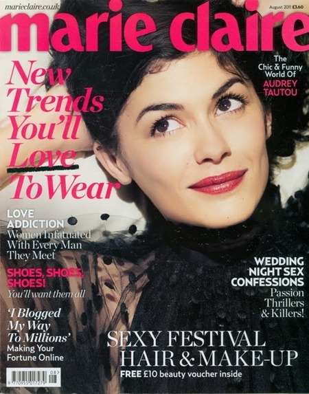 MARIE CLAIRE UK Audrey Tautou in Adorable Audrey by Max Cardelli. Sarah Christie, August 2011, www.imageamplified.com, Image Amplified (1)