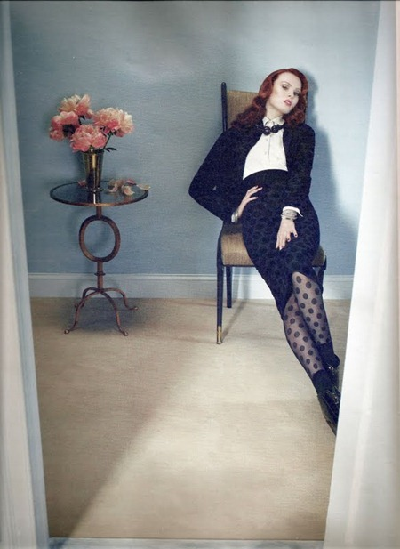 W MAGAZINE Karen Elson in Shar Suiters by Emma Summerton. Edward Enninful, August 2011, www.imageamplified.com, Image Amplified (4)