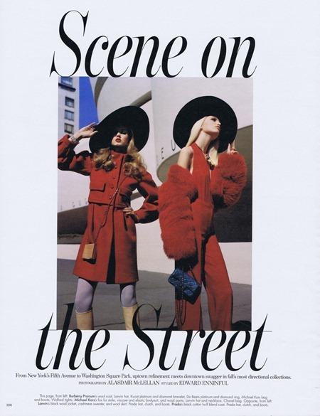 W MAGAZINE Lindsay Wixon & Daphne Groenveld in Scene on the Street by Alasdair McLellan. August 2011, Edward Enninful, www.imageamplified.com, Image Amplified (3)