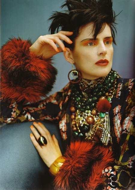 VOGUE UK Stella Tennant in Cultured Clash by Javier Vallhonrat. September 2011, Lucinda Chambers, www.imageamplified.com, Image Amplified (6)