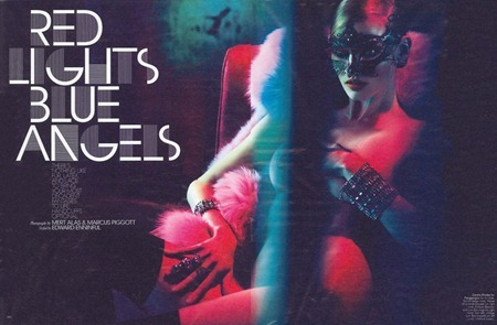 W MAGAZINE Lara Stone in Red Lights Blue Angels by Mert & Marcus. Edward Enninful, September 2011, www.imageamplified.com, Image Amplified (2)