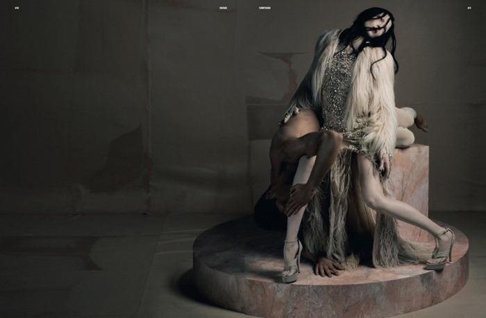 DAZED & CONFUSED MAGAZINE Mariacarla Boscono, Saskia de Brauw & Kasia Struss in Extasis by Riccardo Tisci. Katy England, www.imageamplified.com, Image Amplified (9)
