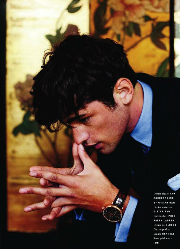VOGUE HOMMES INTERNATIONAL Sean O'Pry in Royal Blue by David Armstrong. Azza Yousif, www.imageamplified.com, Image Amplified (5)