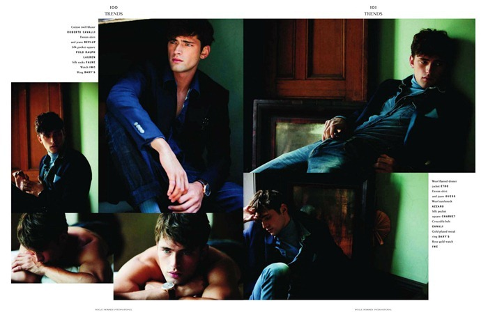 VOGUE HOMMES INTERNATIONAL Sean O'Pry in Royal Blue by David Armstrong. Azza Yousif, www.imageamplified.com, Image Amplified (6)