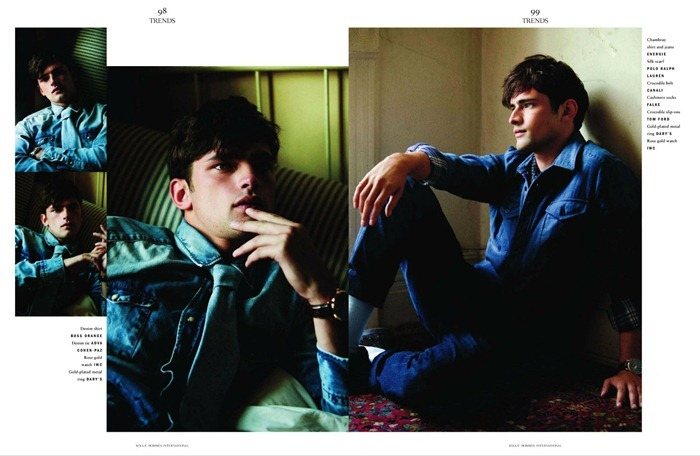 VOGUE HOMMES INTERNATIONAL Sean O'Pry in Royal Blue by David Armstrong. Azza Yousif, www.imageamplified.com, Image Amplified (2)