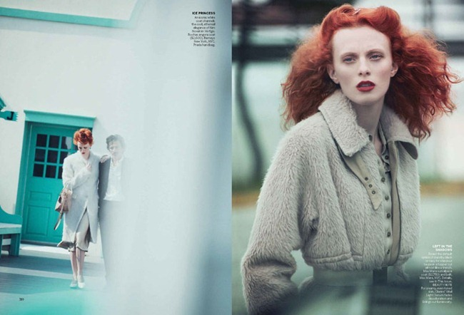 VOGUE MAGAZINE Karen Elson in A Winter's Pale by Peter Lindbergh. Grace Coddington, October 2011, www.imageamplified.com, Image Amplified (6)