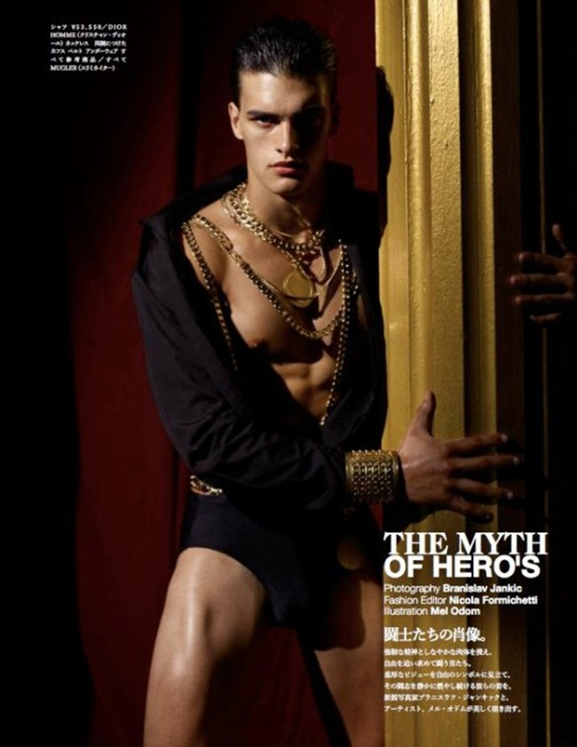 VOGUE HOMMES JAPAN Matthew Terry in The Myth of Hero's by Branislav Jankic. Nicola Formichetti, Fall 2011, www.imageamplified.com, Image Amplified (8)