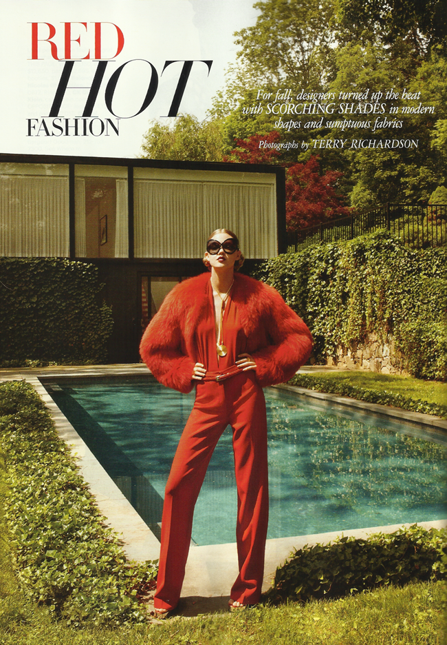 HARPER'S BAZAAR MAGAZINE Lindsey Wixon in Red Hot Fashion by Terry Richardson. Brana Wolf, October 2011, www.imageamplified.com, Image Amplified (2)