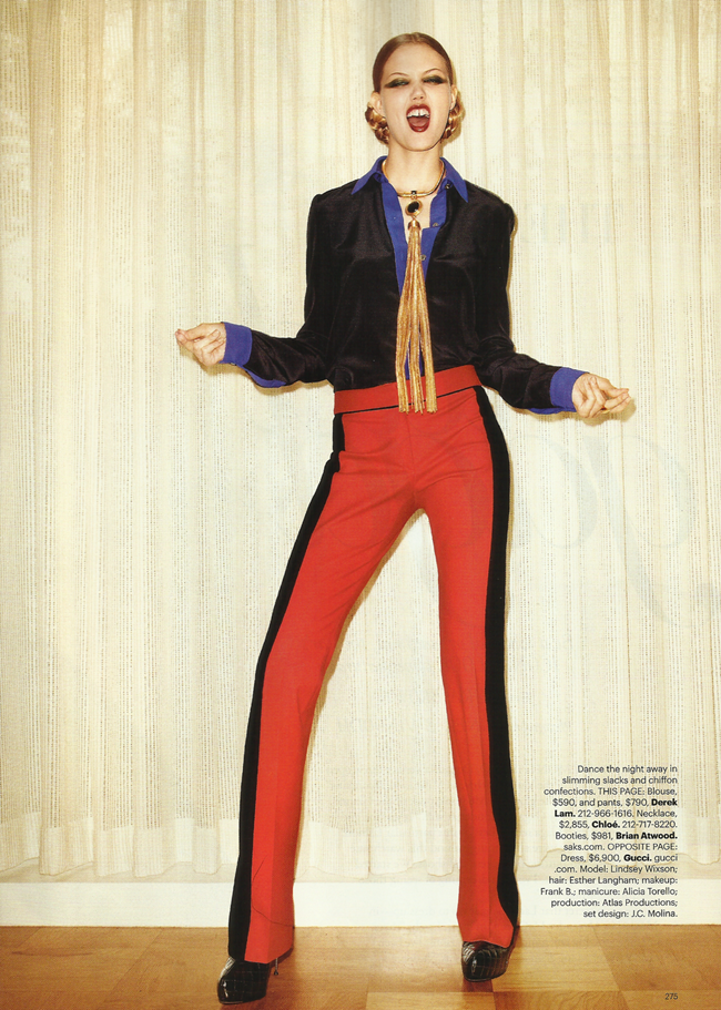 HARPER'S BAZAAR MAGAZINE Lindsey Wixon in Red Hot Fashion by Terry Richardson. Brana Wolf, October 2011, www.imageamplified.com, Image Amplified (5)