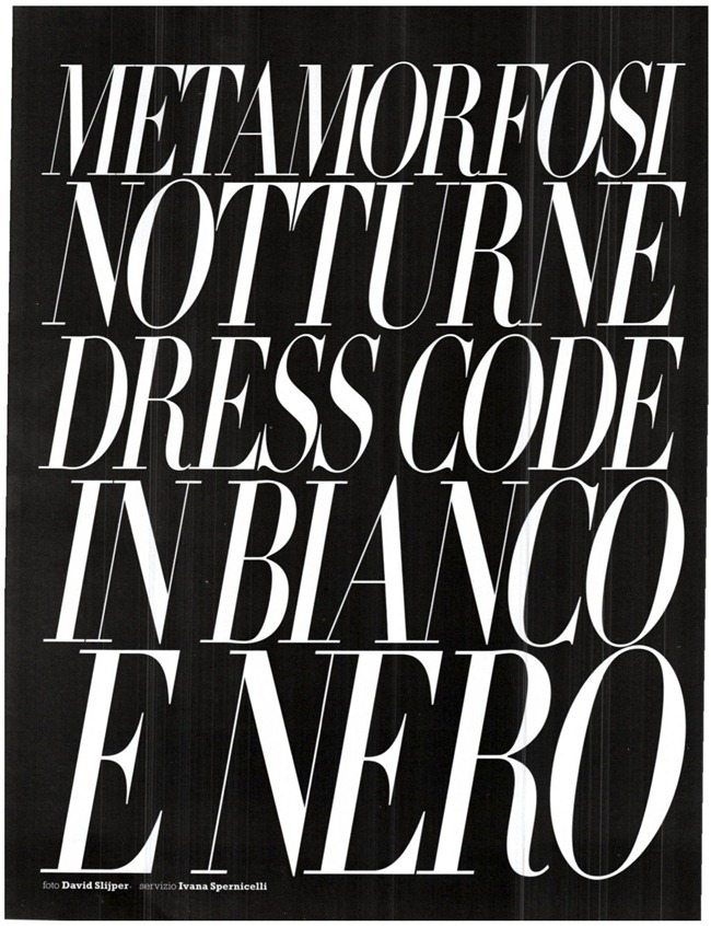 MARIE CLAIRE ITALIA Metamorfosi Notturne Dress Code in Bianco e Nero by David Slijper. Ivana Spernicelli, October 2011, www.imageamplified.com, Image Amplified (13)