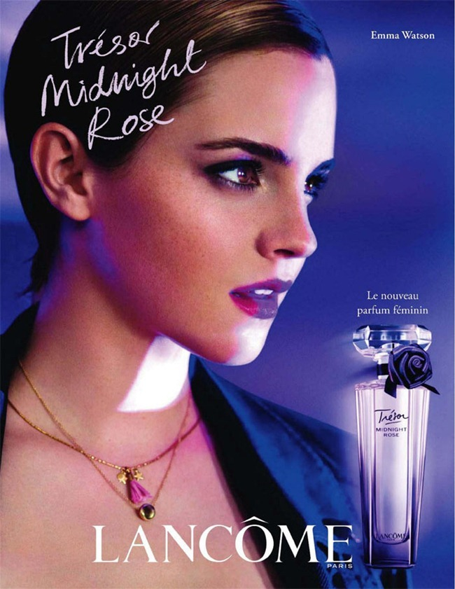 "CAMPAING Emma Watson for Lancôme's ""Trésor Midnight Rose"" by Mario Testino. www.imageamplified.com, Image Amplified"
