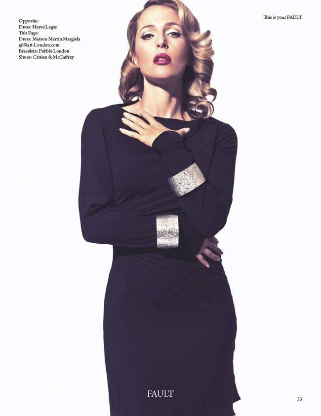 FAULT MAGAZINE Gillian Anderson by Squiz Hamilton. Claudia Behnke, Fall 2011, www.imageamplified.com, Image Amplified (6)
