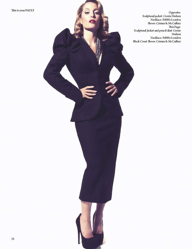 FAULT MAGAZINE Gillian Anderson by Squiz Hamilton. Claudia Behnke, Fall 2011, www.imageamplified.com, Image Amplified (1)