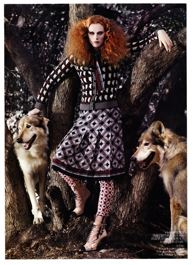 VOGUE CHINA- Karen Elson in &%Exotic Adventure&% by Mark Segal. Tabitha Simmons, November 2011, www.imageamplified.com, Image Amplified3