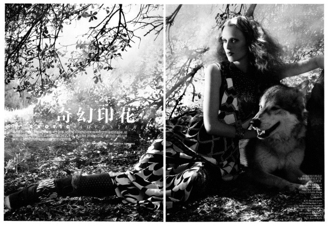 VOGUE CHINA- Karen Elson in &%Exotic Adventure&% by Mark Segal. Tabitha Simmons, November 2011, www.imageamplified.com, Image Amplified1