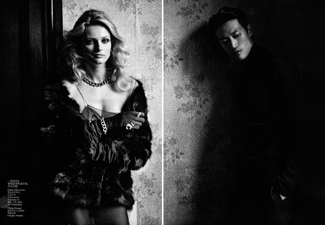 VOGUE CHINA- Edita Vilkeviciute & Philip Huang in &%Fabulous Fur&% by Peter LIndbergh. Nicoletta Santoro, November 2011, www.imageamplified.com, Image Amplified5