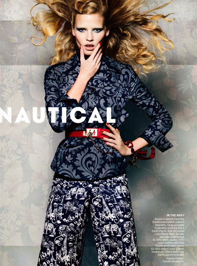 VOGUE MAGAZINE Lara Stone in Nautical Signals by Craig McDean. Camilla Nickerson, November 2011, www.imageamplified.com, Image Amplified (5)