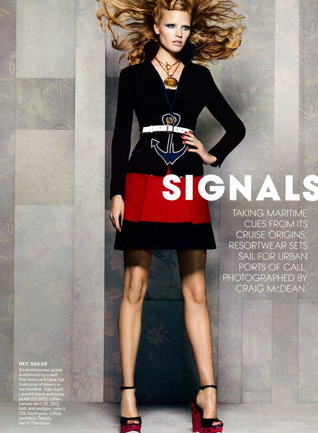 VOGUE MAGAZINE Lara Stone in Nautical Signals by Craig McDean. Camilla Nickerson, November 2011, www.imageamplified.com, Image Amplified (1)