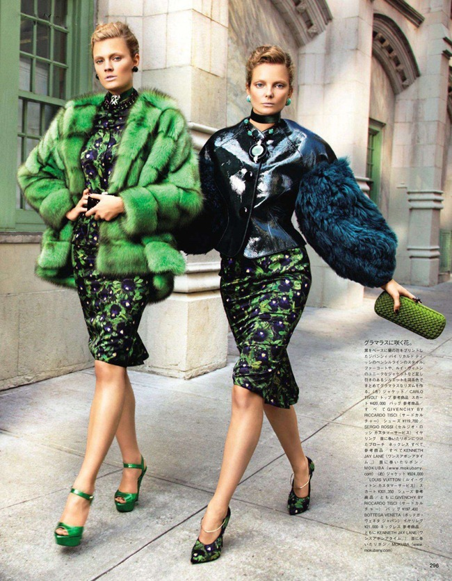 VOGUE JAPAN- Constance Jablonski & Eniko Mihalik in We Call It Glamour by Alex Cayley. Giovanna Battaglia, December 2011, www.imageamplified.com, Image Amplified4