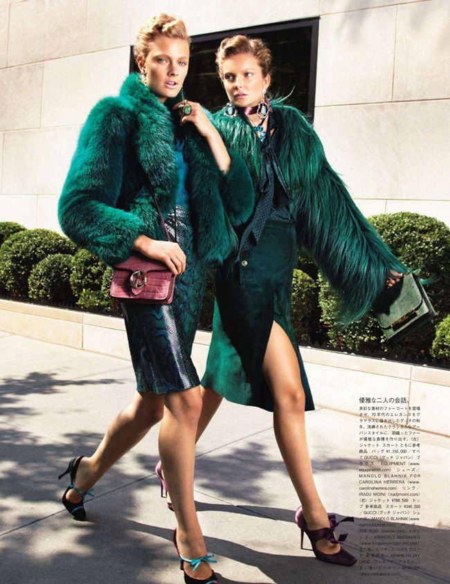 VOGUE JAPAN- Constance Jablonski & Eniko Mihalik in We Call It Glamour by Alex Cayley. Giovanna Battaglia, December 2011, www.imageamplified.com, Image Amplified5