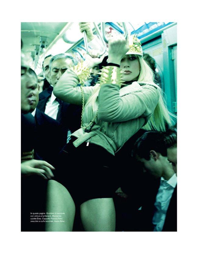 VOGUE ITALIA- Raquel Zimmermann in The A Train by Steven Meisel. Carlyne Cerf de Dudzeele, November 2011, www.imageamplified.com, Image Amplified3