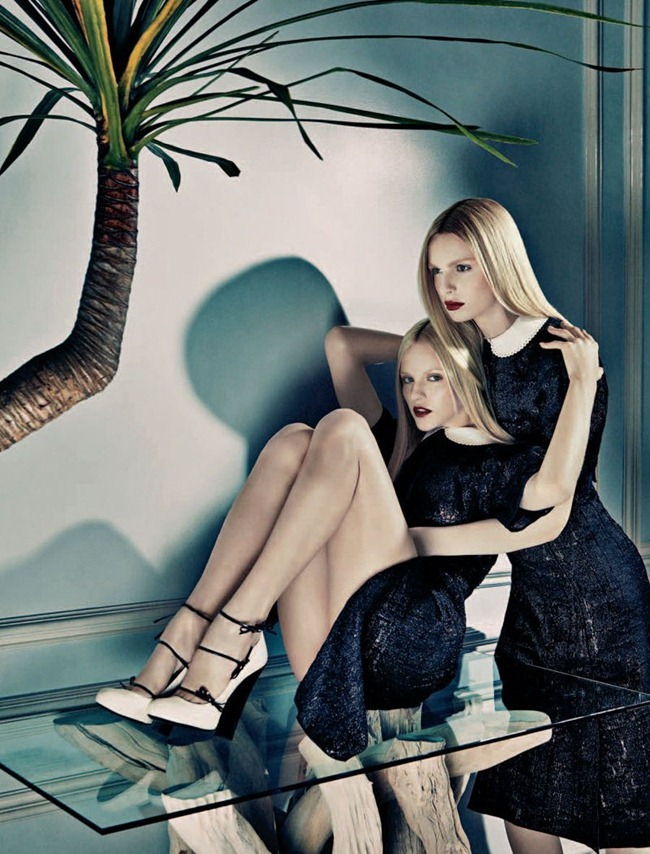 NUMERO MAGAZINE Ginta Lapina & Andrej Pejic in Les Gémeaux by Sebastian Kim. Charles Varenne, www.imageamplified.com, Image Amplified (4)