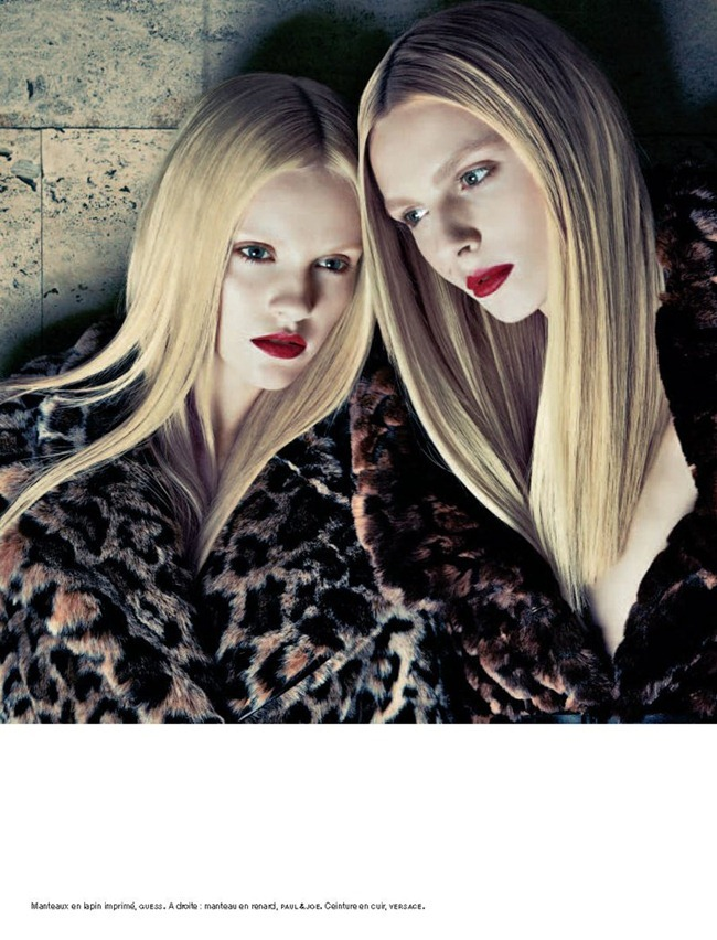 NUMERO MAGAZINE Ginta Lapina & Andrej Pejic in Les Gémeaux by Sebastian Kim. Charles Varenne, www.imageamplified.com, Image Amplified (6)