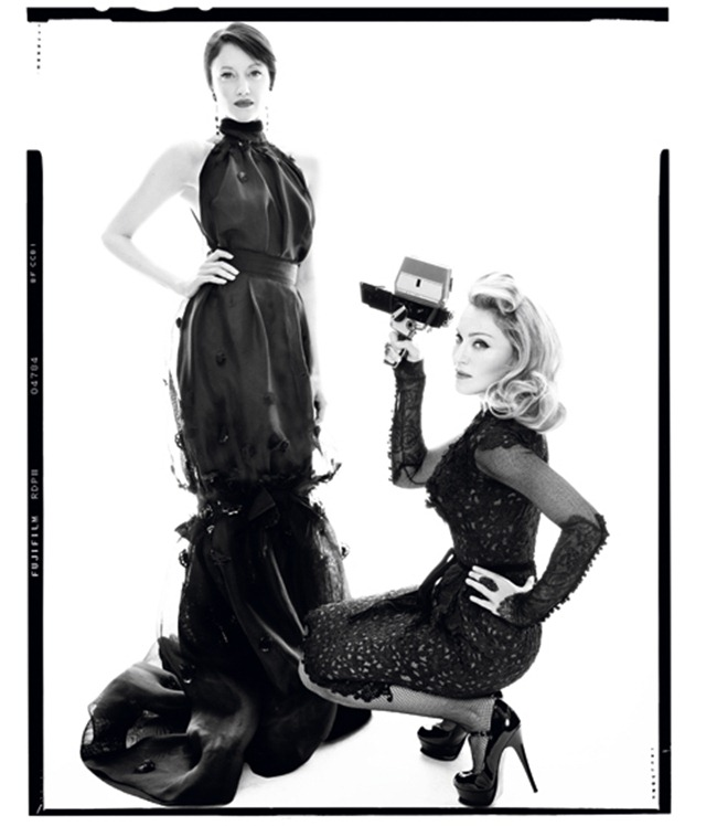 HARPER'S BAZAAR MAGAZINE Madonna & Andrea Risenborough by Tom Munro. December 2011, www.imageamplified.com, Image Amplified (6)