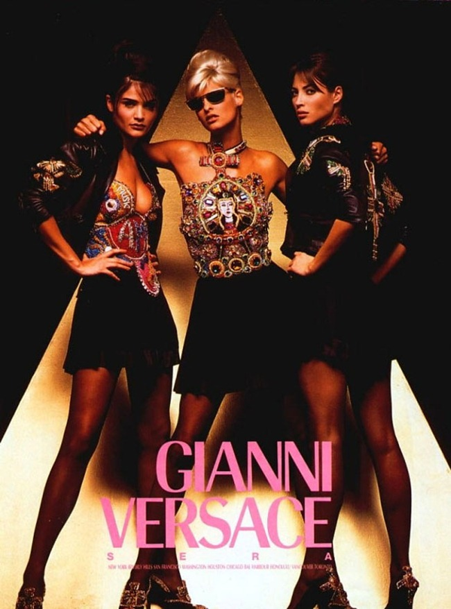 WE ♥ VERSACE Linda Evangelista, Carla Bruni, Naomi Campbell & Claudia Schiffer for Versace 80s & 90s. www.imageamplified.com, Image Amplified (13)