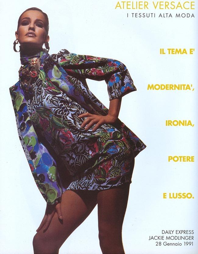 WE ♥ VERSACE- Gurmit, Karen Mulder & Claudia Mason for Atelier Versace S S 1991 by Tyen. www.imageampilfied.com, Image Amplified7