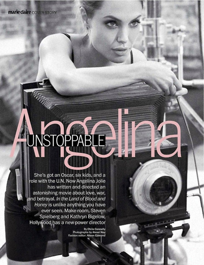 MARIE CLAIRE MAGAZINE Angelina Jolie in Unstoppable Angelina by Alexei Hay. January 2012, Alison Edmond, www.imageamplified.com, Image Amplified (7)