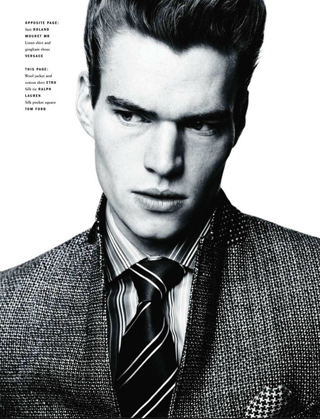 VOGUE HOMMES INTERNATIONAL Sebastian Sauve in The Suit by Horst Diekgerdes. David Bradshaw, Fall 2011, www.imageamplified.com, Image Amplified (2)